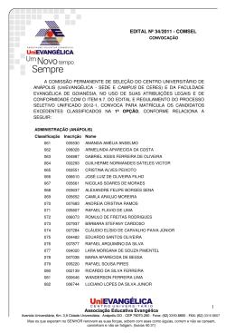 Edital 35 - 2011 Opção 1