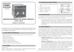 MONITOR ELETRÔNICO DE TENSÃO TRIFÁSICA