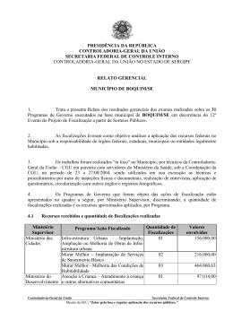 relatório de fiscalização nº 272 município de boquim