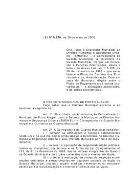 Minuta Projeto de lei municipal
