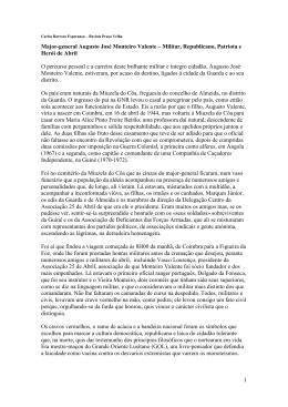 1 Major-general Augusto José Monteiro Valente – Militar