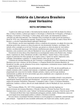 História da Literatura Brasileira – José Veríssimo