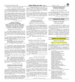 33 Ministério das Cidades Ministério das Comunicações