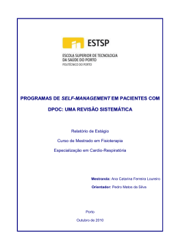 programas de self-management em pacientes com dpoc