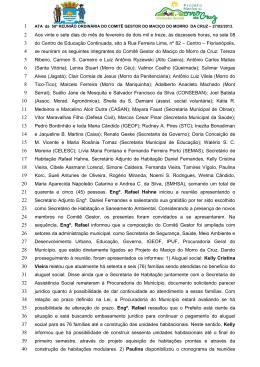 ATA 58ª Reunião COMITÊ GESTOR 27 02 2013