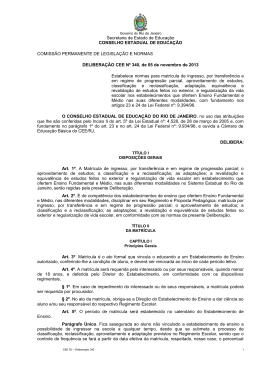 Secretaria de Estado de Educação CONSELHO ESTADUAL
