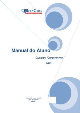 Manual do Aluno - Universidade Braz Cubas