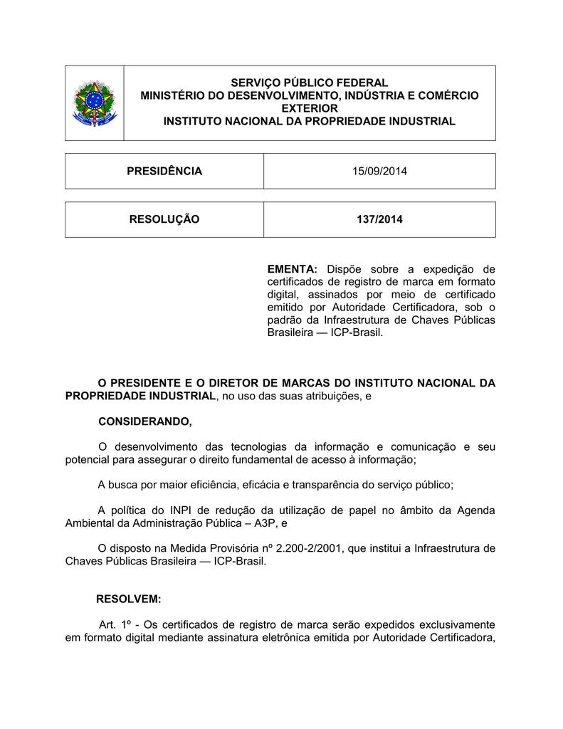 4f80183de Certificado Digital - Marcas