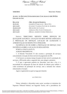 ARE 656.709 AgR - Supremo Tribunal Federal