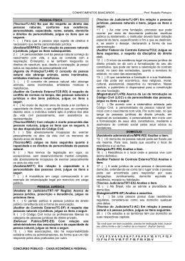 PESSOA FÍSICA (Técnico/TJ-AC) No que diz respeito ao direito das