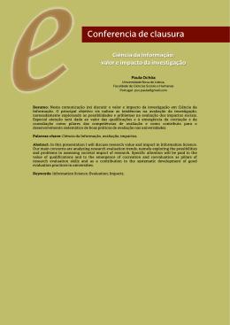 Conferencia de clausura - VII Encuentro Ibérico EDICIC 2015