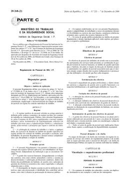 Regulamento de Pessoal do ISS, I. P.