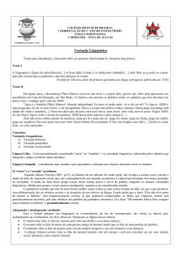 Variação Linguística - Portal