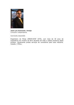 José Luiz Amarante Araújo Consultor independente Currículo