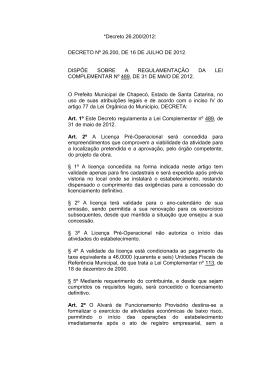 *Decreto 26.200/2012: DECRETO Nº 26.200, DE 16 DE JULHO DE