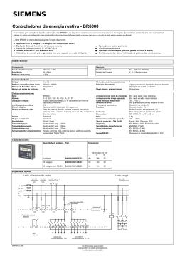 Controladores de energia reativa - BR6000