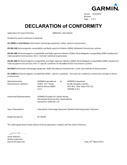 DECLARATION of CONFORMITY