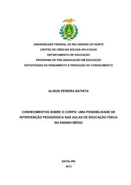 ALISON PEREIRA BATISTA CONHECIMENTOS - PPGED