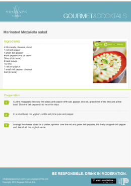 Marinated Mozarella salad BE RESPONSIBLE
