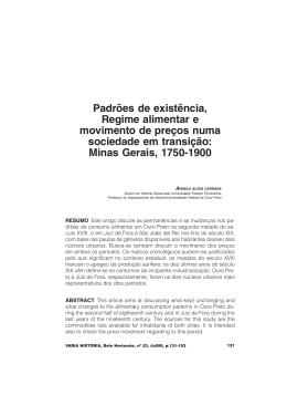 Minas Gerais, 1750-1900
