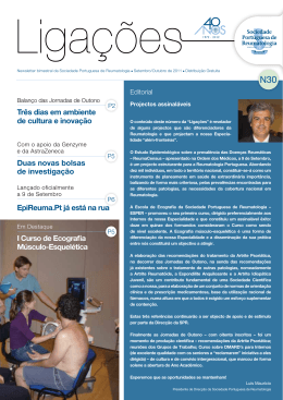 Newsletter bimestral da Sociedade Portuguesa de Reumatologia