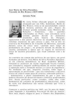 José Maria da Silva Paranhos, Visconde do Rio Branco