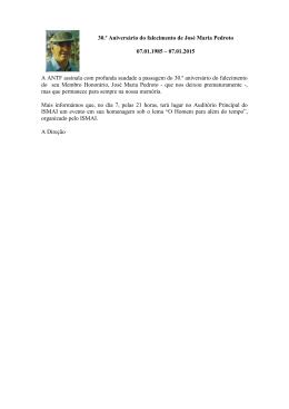 30.º Aniversário do falecimento de José Maria Pedroto 07.01.1985