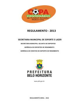 Regulamento OFICIAL 2013