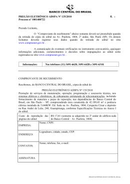 Edital completo - Banco Central do Brasil