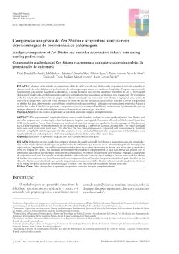 Comparação analgésica do Zen Shiatsu e acupuntura auricular em