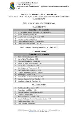 FORMULÁRIO DE INSCRIÇÃO - Estruturas e Construção Civil