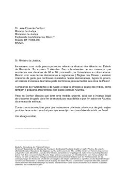 Dr. José Eduardo Cardozo Ministro da Justiça - SOS