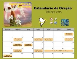 Calendário de Oração Março 2013