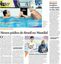 Menos pódios do Brasil no Mundial