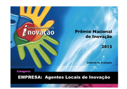 anexo ii - Prêmio Nacional de Inovação