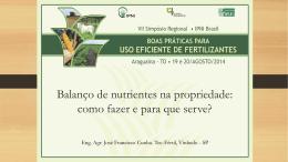 Balanço de nutrientes na propriedade: como fazer e - IPNI