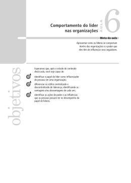 17417 Comportamento Humano nas Organizacoes Aula 06 Volume 1