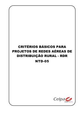 critérios básicos para projetos de redes aéreas de distribuição rural