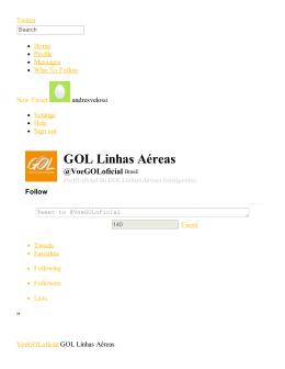 GOL Linhas Aéreas \(voegoloficial\) on Twitter