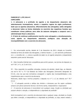 Parecer n.º 1-PP/2014-P