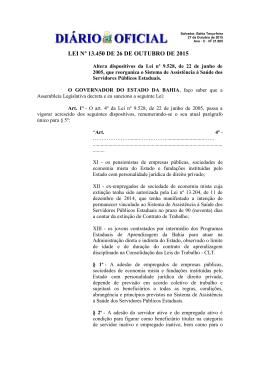 LEI Nº 13.450 DE 26 DE OUTUBRO DE 2015