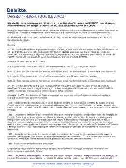 Decreto nº 43654, (DOE 03/03/05)