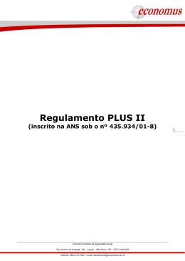 Regulamento PLUS II