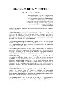 Decisao_cofen - Conselho Regional de Enfermagem do Amazonas