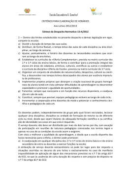 documento - Escola D. Sancho I