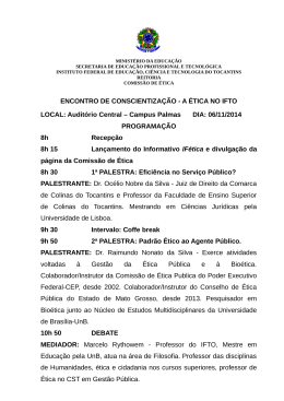Programação - Instituto Federal do Tocantins