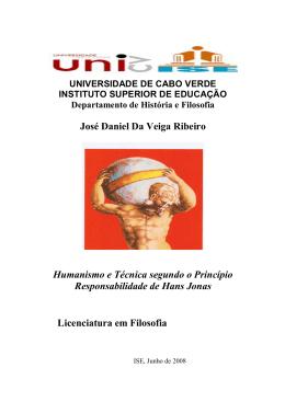 José Daniel Da Veiga Ribeiro Humanismo e Técnica segundo o