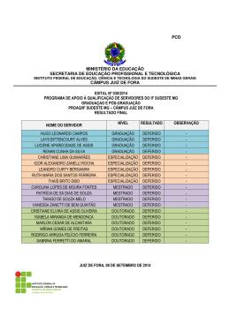 ministério da educação secretaria de educação profissional e