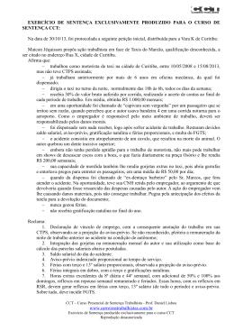 Exercício de Sentenca 1 - cct