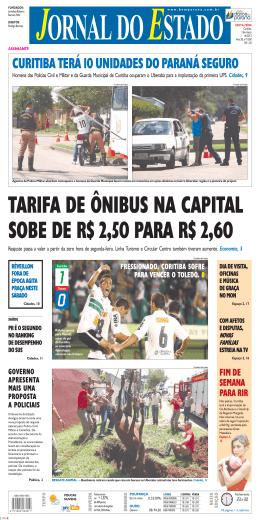 CURITIBA TERÁ 10 UNIDADES DO PARANÁ SEGURO